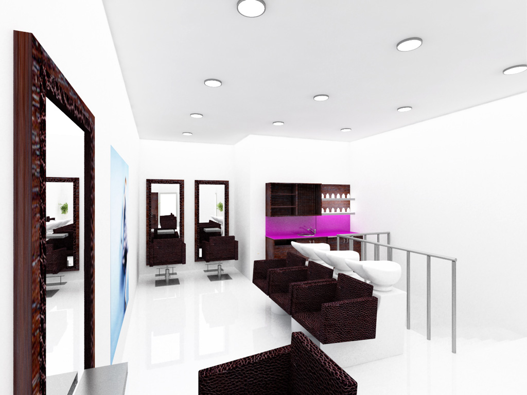 Un Salon De Coiffure Homme Moderne | Aménagement D 39un Salon De ...