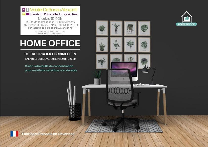 Promo! Home office – Télétravail – MobilierDeBureauAlençon.fr