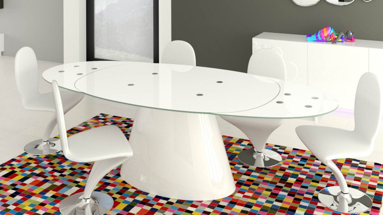 table ronde cuisine pied central