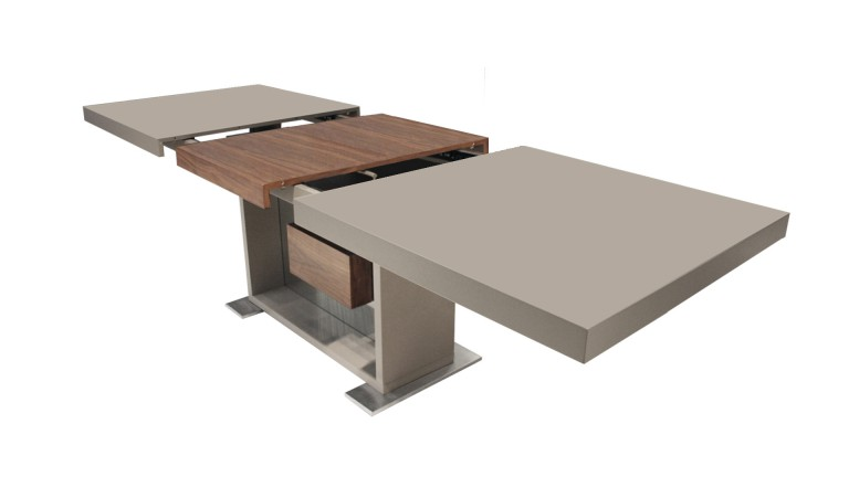 table salle a manger laquee installation rallonges ouverte friendly mobiliermoss