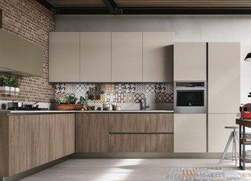 Cucine Piu Belle Moderne | Kookeiland Met Geïntegreerde Eettafel