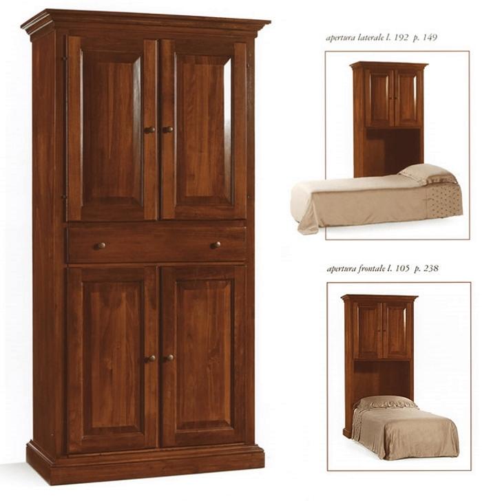 mobile letto singolo in legno massello art IM2131