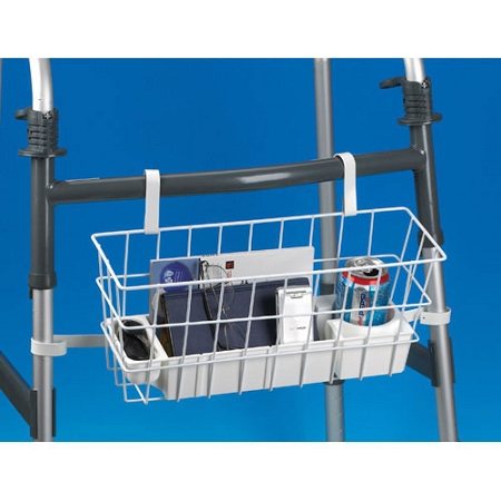 Deluxe Walker Basket  wire basket with storage tray