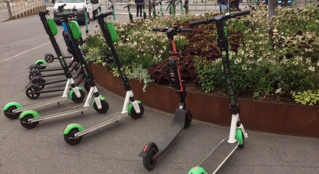 Shared electric kick scooters