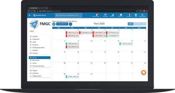 calendrier gmao gestion de maintenance