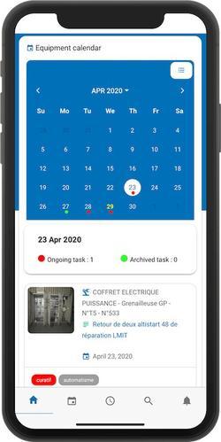 cmms equipment calendar