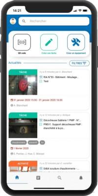 gmao mobile gestion maintenance industrielle