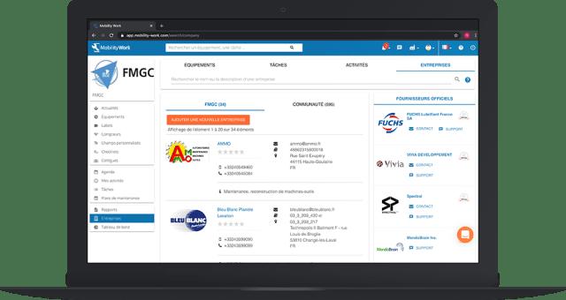 gmao communautaire réseau entreprise