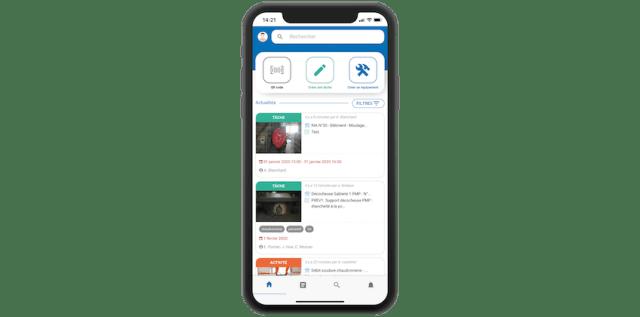 gmao mobile fil d'actualité
