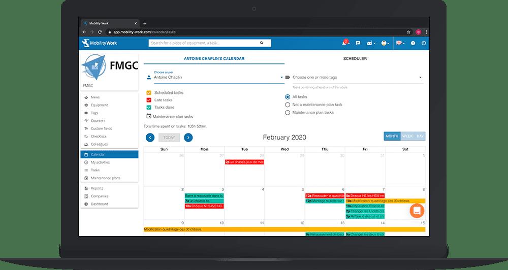 Maintenance Calendar On My Mobility Work CMMS Software