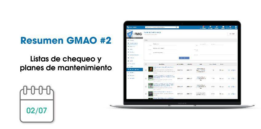 Novedades GMAO: listas de chequeo y planes de mantenimiento | Junio 2019