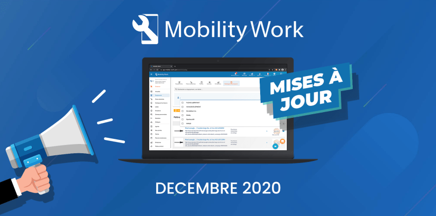 Nouveautés GMAO : filtres, Hub et notifications | Décembre 2020
