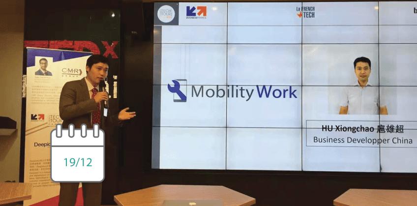 La GMAO Mobility Work au French Tech Tour China 2018