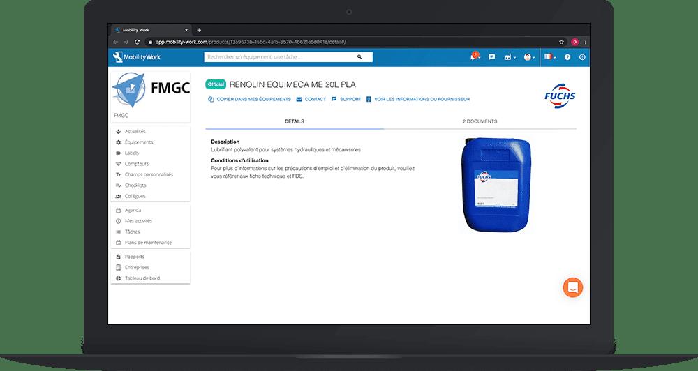 Dupliquer une fiche produit depuis le catalogue officiel de la GMAO