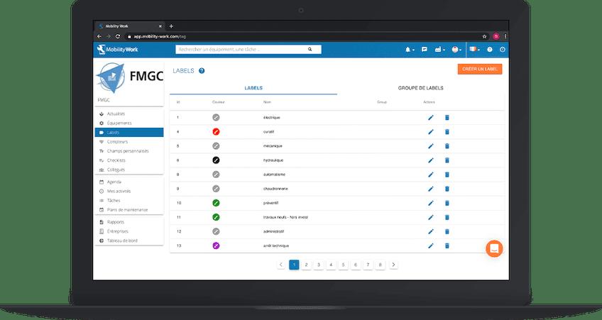 Personnaliser ses données de maintenance avec les labels dans la GMAO