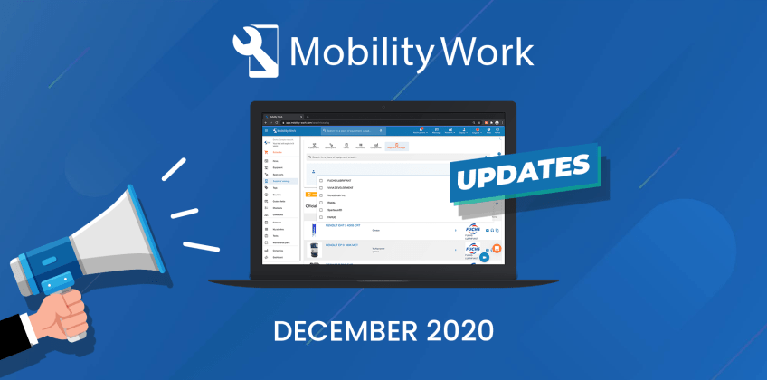 CMMS updates: Filters, Hub and notifications | December 2020
