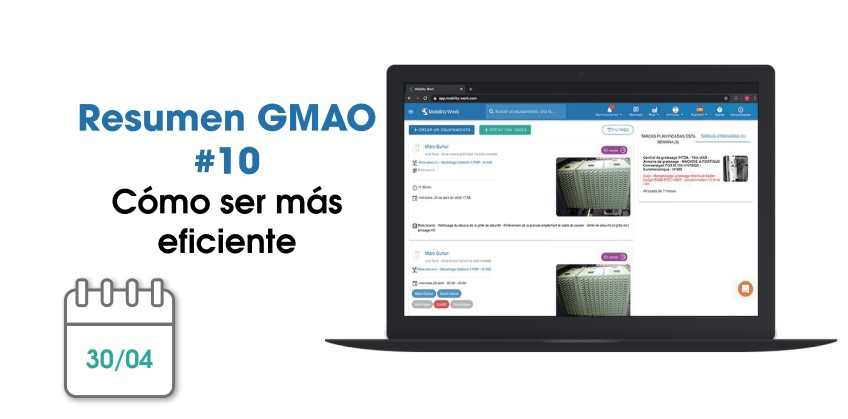 Novedades GMAO: cómo ser más eficiente | Mayo 2020