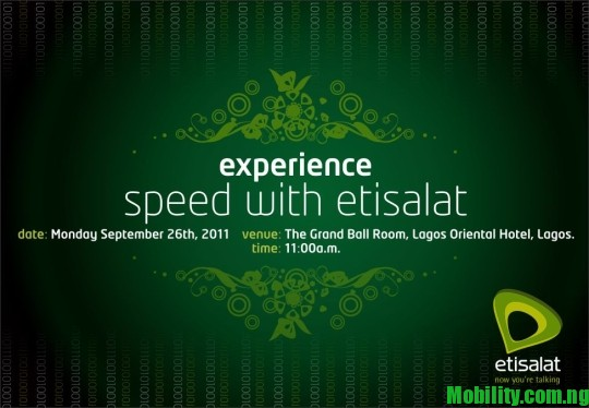 ETISALATETISALAT NIGERIA 3G LAUNCH-NIGERIA-3G-LAUNCH