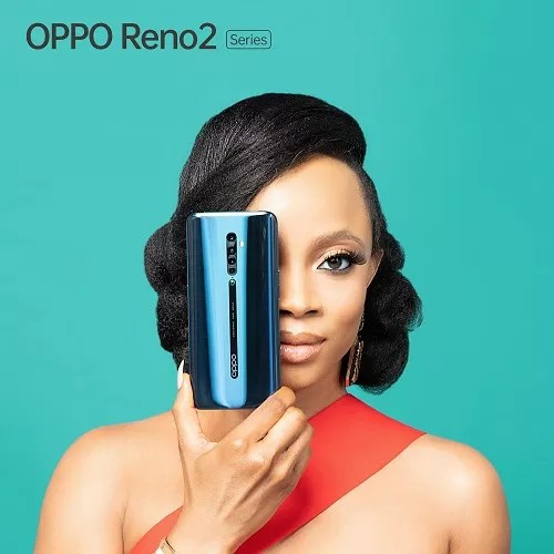 Toke Makinwa for OPPO Reno2 launch in Nigeria