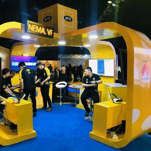 mtn nigeria 5g demo virtual reality booth