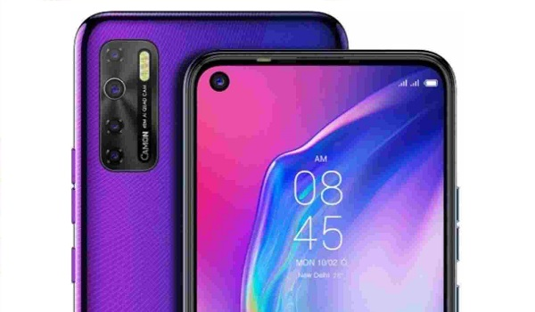TECNO Camon 15 with punch hole selfie camera