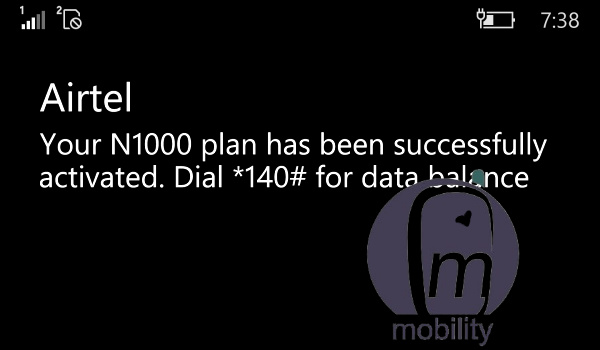 Airtel 5GB for N1000 - 1000 for 5gb plan