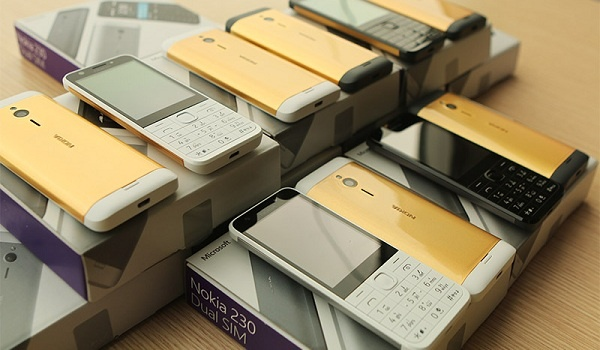 Nokia 230 goldplated boxes
