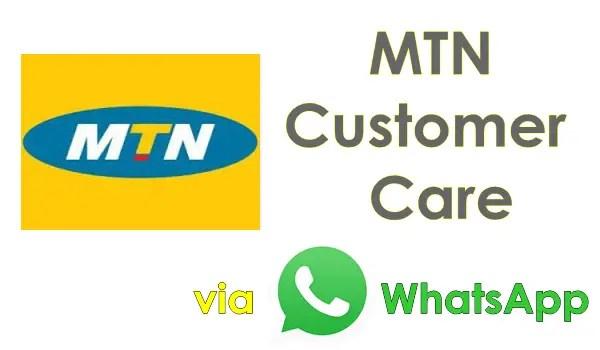 You can now reach MTN Customer Care through WhatsApp 1