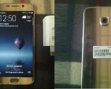 Samsung Galaxy S6 Edge front back