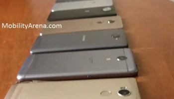 peg 4G network - three smartphones