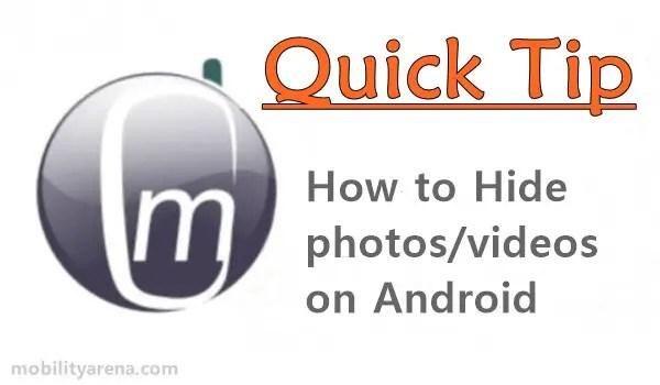 hide photos