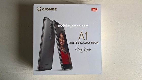 Gionee A1 Hands-on box