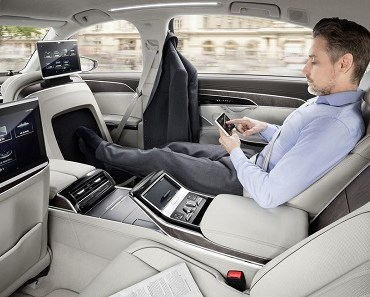 Audi A8 grey ride in style