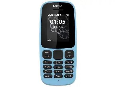 New Nokia 105 2017 color-blue