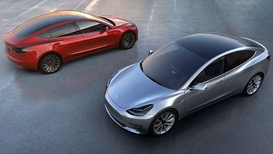 Tesla Model 3 red and black