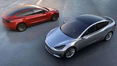 Tesla Model 3 red and black