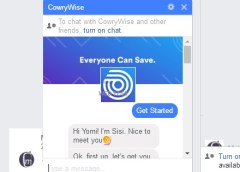 CowryWise Bot chat