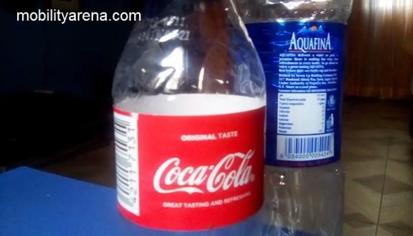 Ntel N1 Nova main camera bottles