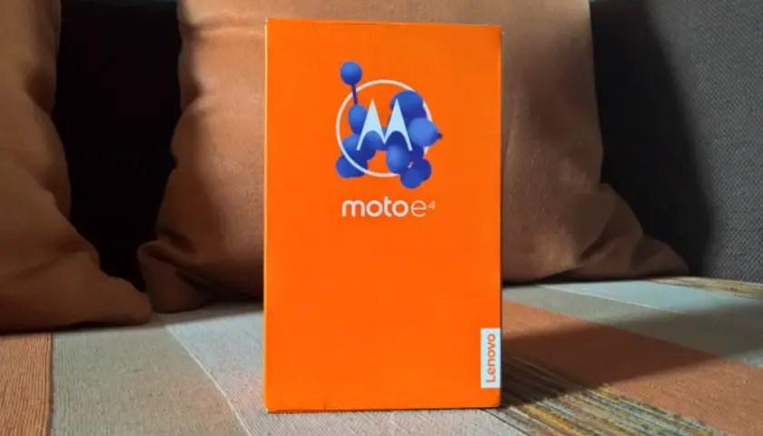 moto e4 review box