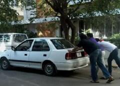 push-starting a car