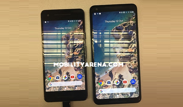 Google Pixel 2 and Pixel 2 XL photos front