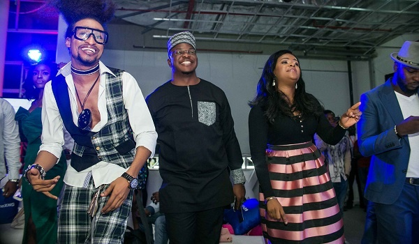 Denrele and guests at iPhone X Lagos Launch