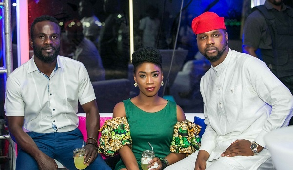 Guests at the event with Adebola Williams at the iPhone X Lagos Launch