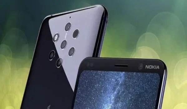 Nokia 9 rear five cameras