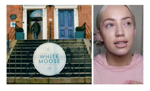 The White Moose Café the vlogger Elle darby