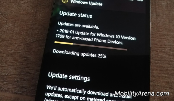 Windows 10 mobile spectre security update