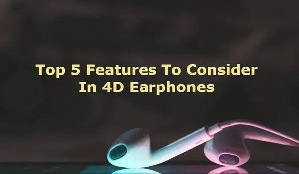 4D Stereo earphones