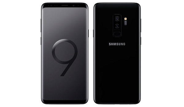 Samsung Galaxy S9 Plus black front and back