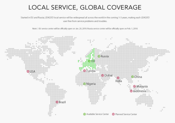 Leagoo local service, global coverage