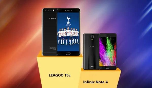 Leagoo T5c versus Infinix Note 4